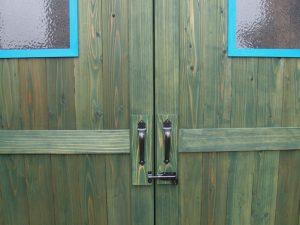 ドア・取っ手|ガーデニング用木製ガーデンシェッド・物置小屋