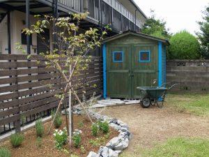 設置事例|ガーデニング用木製ガーデンシェッド・物置小屋
