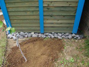 工事事例・見栄え良く設置します|ガーデニング用木製ガーデンシェッド・物置小屋